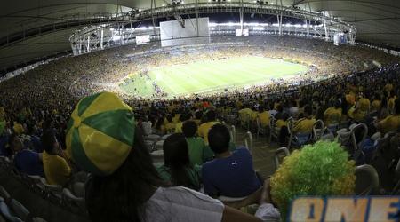 מבט על אצטדיון המרקאנה מהיציע רגע לפני שריקת הפתיחה (רויטרס)