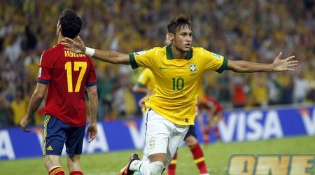 ניימאר חוגג את השער השני של ברזיל (רויטרס)