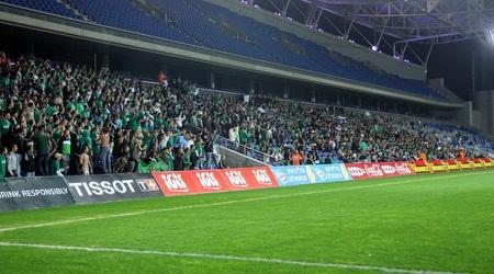 אוהדי חיפה באצטדיון בנתניה (יניב גונן)