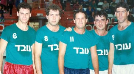 ניר לוין (מימין) בטורניר לזכרו של עובד