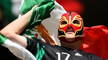 אוהד נבחרת מקסיקו מאושר (GettyImages)