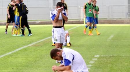 שחקני ישראל שבורי לב בסיום (חגי ניזרי)