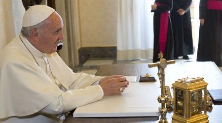 האפיפיור. גם הוא הוכנס בסוד העניינים (רויטרס)