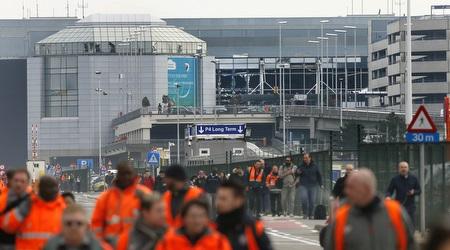 שדה התעופה בבריסל לאחר הפיגוע (רויטרס)