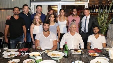 נבחרת הג´ודו של ישראל יחד עם אריק זאבי ויואל רזבוזוב (רדאד ג´בארה)