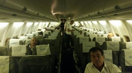 המטוס ובו אנשי נבחרת ישראל (דורון בן דור)