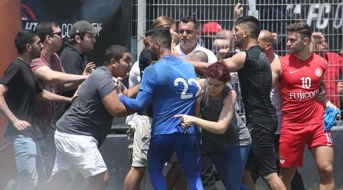 תגרה באימון הפועל תל אביב (רדאד ג'בארה)