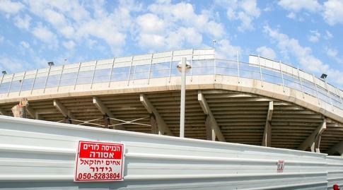 אצטדיון בלומפילד. הפתיחה המחודשת מתוכננת לנובמבר 2018 (משה חרמון)