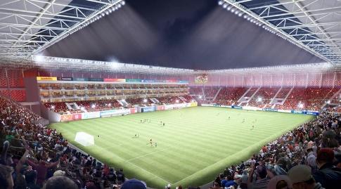 הדמיית האצטדיון בבת ים (מערכת ONE)