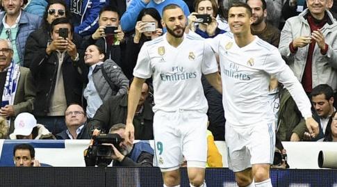 רונאלדו ובנזמה חוגגים (La Liga)
