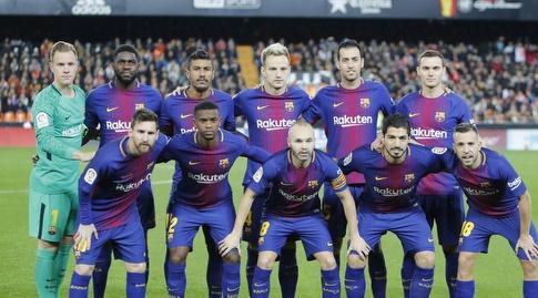 שחקני ברצלונה. משחק עונה ראשון בליגה (La Liga)