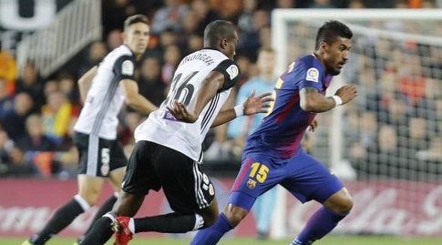 פאוליניו. סיפק את האיום הראשון במשחק (La Liga)