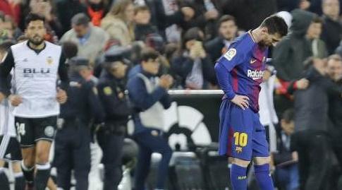 ליאו מסי. יכול להיות מאוכזב בעיקר מהשופט (La Liga)