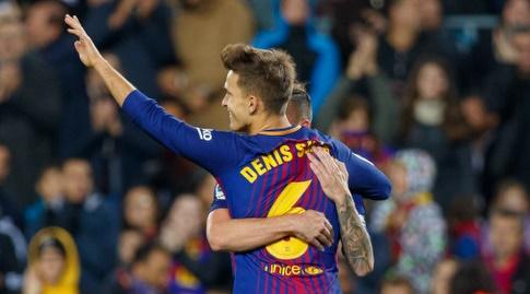 דניס סוארס חוגג (La Liga)