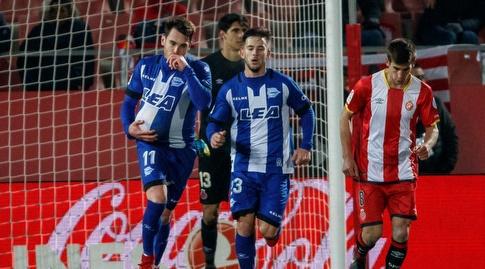 איבאי גומס חוגג את השער המצמק (La Liga)