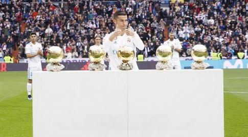 כריסטיאנו רונאלדו מקבל כבוד על כדור הזהב (La Liga)