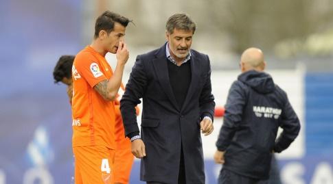 לואיס הרננדס עם מאמנו (La Liga)