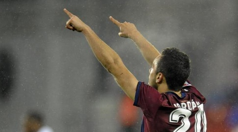 ז'ואן ז'ורדן חוגג את שער הניצחון (La Liga)
