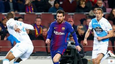 מסי מול הגנת לה קורוניה (La Liga)