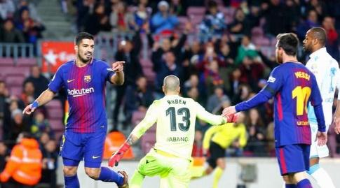 סוארס מודה למסי (La Liga)