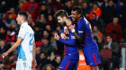 פאוליניו חוגג עם פיקה (La Liga)