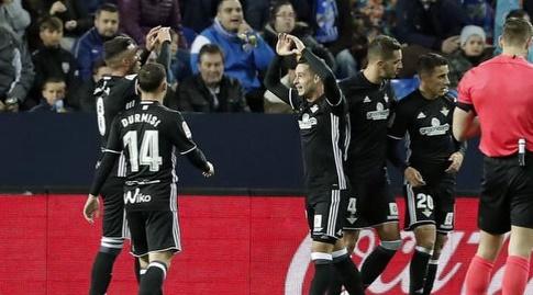 שחקני בטיס חוגגים את השער (La Liga)