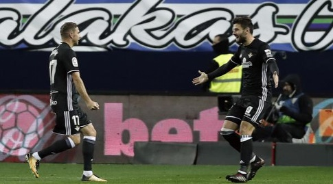 שחקני בטיס חוגגים את השער השני (La Liga)