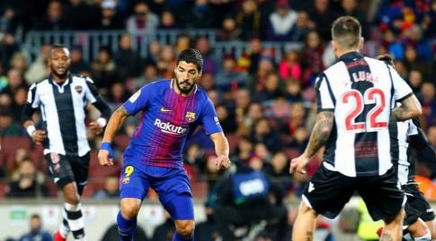 לואיס סוארס מול הגנת לבאנטה (La Liga)