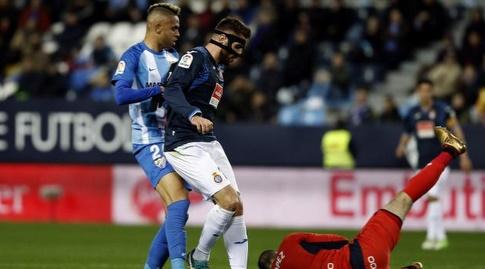 פאו לופס מגן על הכדור (La Liga)