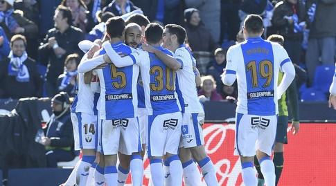 שחקני אספניול בחגיגה נוספת (La Liga)