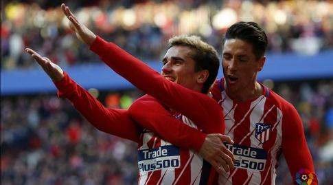 פרננדו טורס חוגג עם אנטואן גריזמן (La Liga)