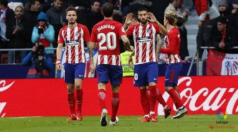 שחקני אתלטיקו מדריד מרוצים (La Liga)
