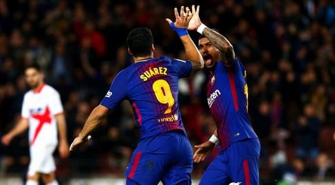 סוארס ופאוליניו חוגגים (La Liga)
