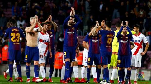 שחקני ברצלונה מודים לקהל (La Liga)