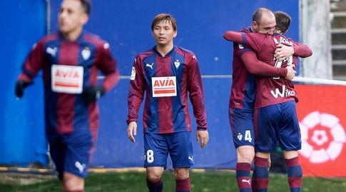 איבן ראמיס חוגג את השער השלישי (La Liga)