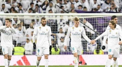 טוני קרוס ושחקני ריאל מדריד חוגגים (La Liga)