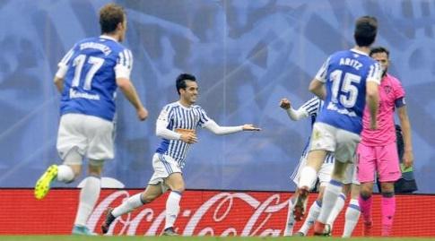 חואנמי אחרי השער השני. מחצית קלילה לסוסיאדד (La Liga)