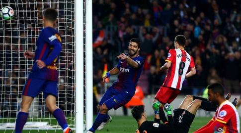 סוארס חוגג ומפרגן לקוטיניו (La Liga)