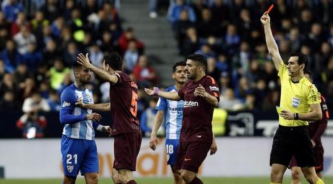 סמואל גרסיה רואה כרטיס אדום (La Liga)