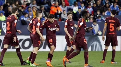 קוטיניו חוגג עם ברצלונה (La Liga)
