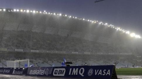 הגשם החזק באצטדיון אנואטה (La Liga)