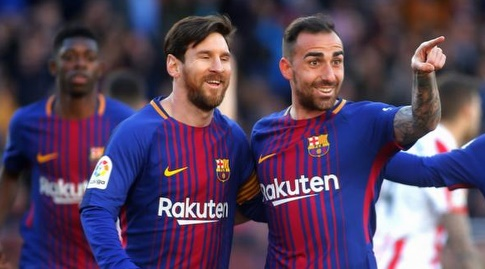 אלקאסר חוגג עם מסי (La Liga)