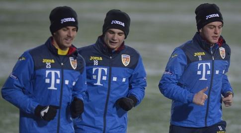 שחקני נבחרת רומניה באימון (כריסטיאן פרדה)