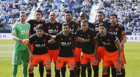 שחקני ולנסיה בתמונה המסורתית (La Liga)