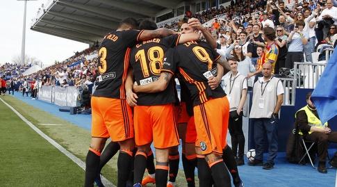 ולנסיה שמחה על השער (La Liga)