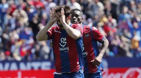 קוקה חוגג את השער (La Liga)