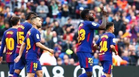 סמואל אומטיטי חוגג (La Liga)