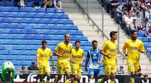 שחקני לאס פלמאס לאחר השער (La Liga)