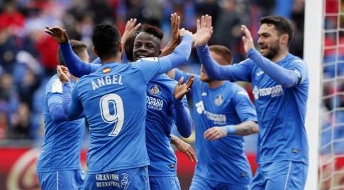 שחקני חטאפה חוגגים את השער (La Liga)