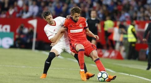 סרחיו אסקודרו נאבק עם עדנאן יאנוזאי (La Liga)